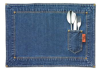 Jogo americano em jeans