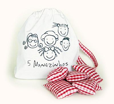 Jogo das 5 Marias : feito com saquinhos de arroz