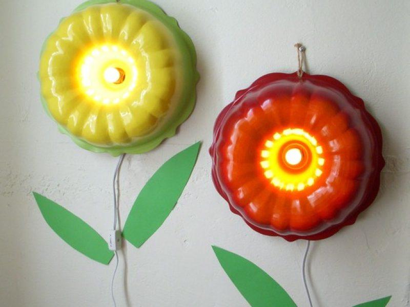 Forma em flor: luminária divertida