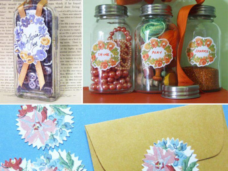Etiquetas florais – Download gratuito