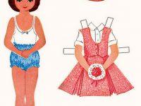 Dia das Crianças – bonecas para recortar e vestir