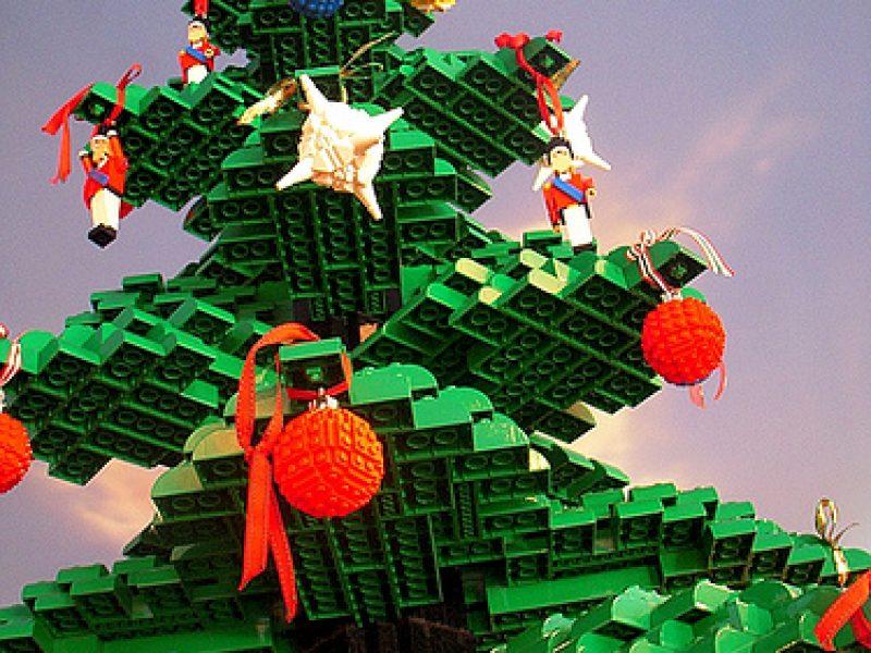 Vários modelos de árvores de Natal
