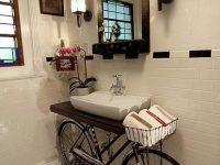 Novo uso para a velha bicicleta