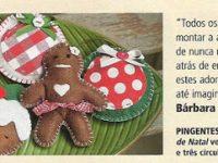 Revista Minha Casa: Kit de bolachas de feltro para o Natal