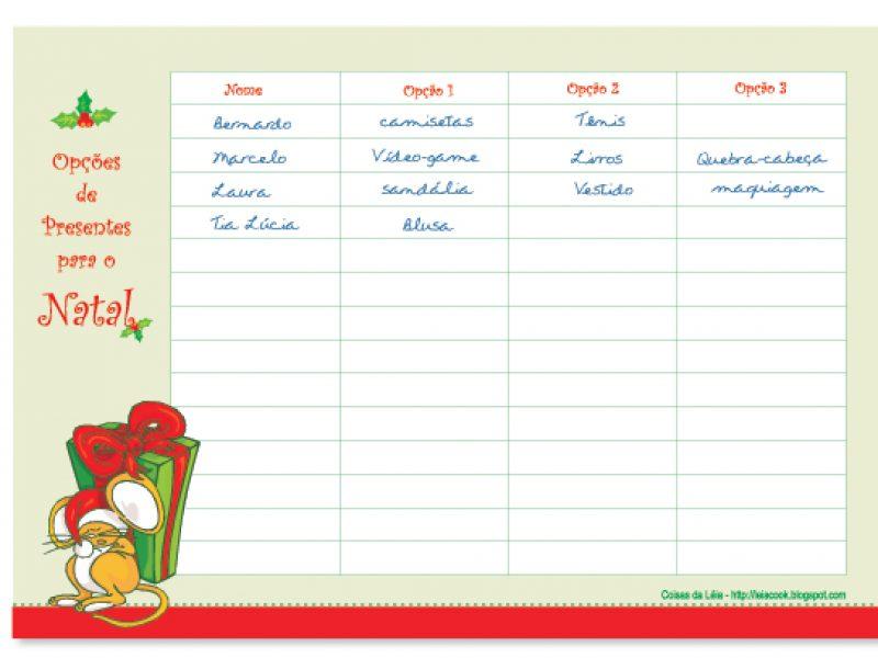 Opções de presentes para o Natal