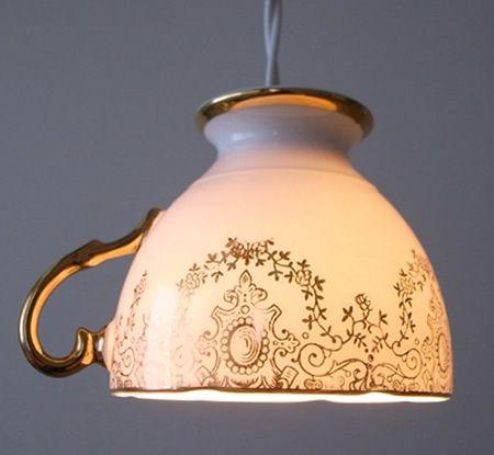 Pontos de Luz :  como usar objetos inusitados para criar luminárias