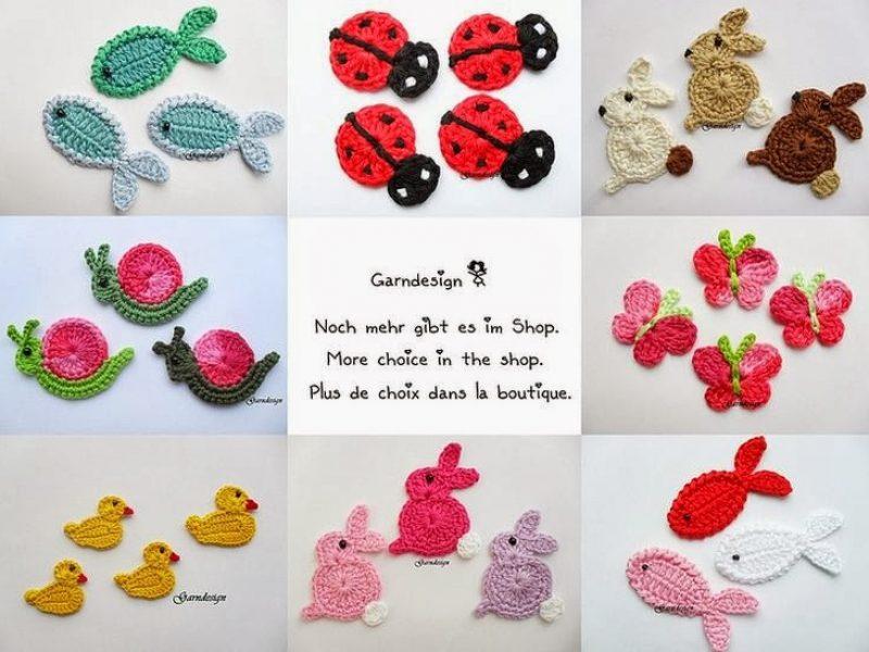 Bichinhos em crochê para roupa de criança