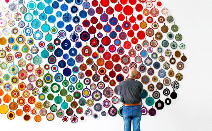 Arte em pega panelas de crochê