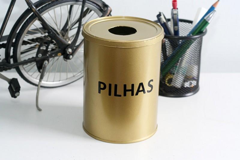 Pilhas para reciclagem: Onde guardar?