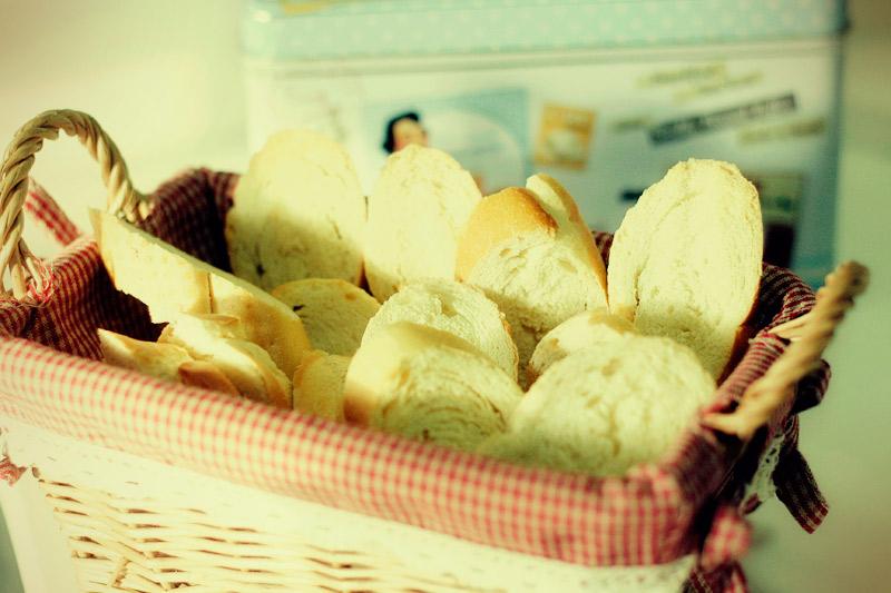 torradas de pão amanhecido