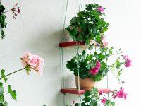 Prateleira suspensa para plantas ou objetos