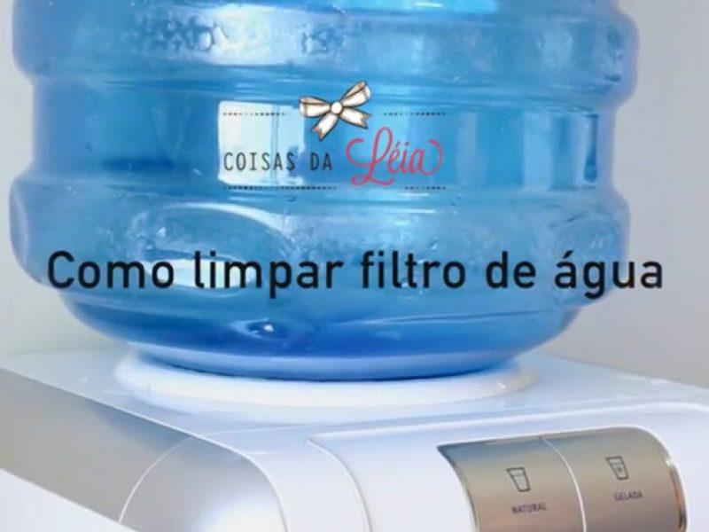 Como limpar purificador de água com bombona