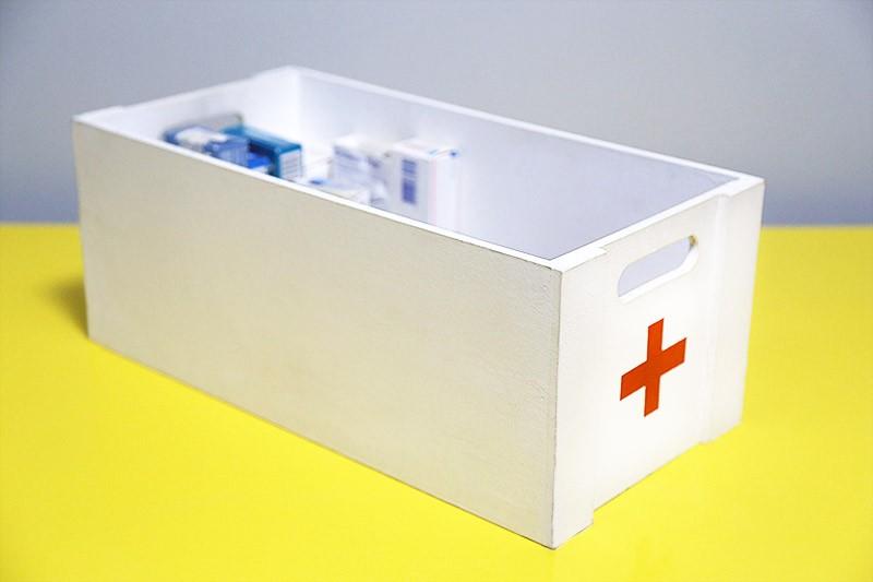 Onde guardar a caixa de remédio?