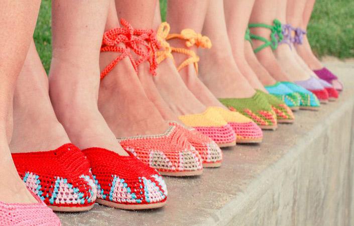 4e0c89f239 Calçados em crochê - Coisas da Léia