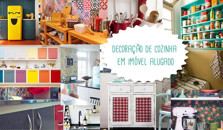 Decoração de cozinha em imóvel alugado