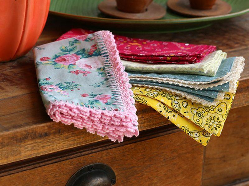 Como fazer guardanapo de tecido