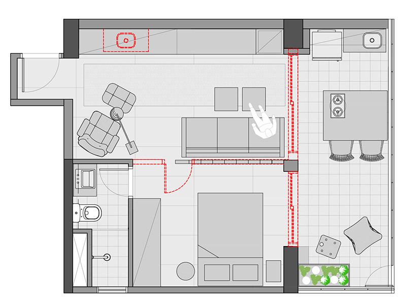 decorar apartamento pequeno planta