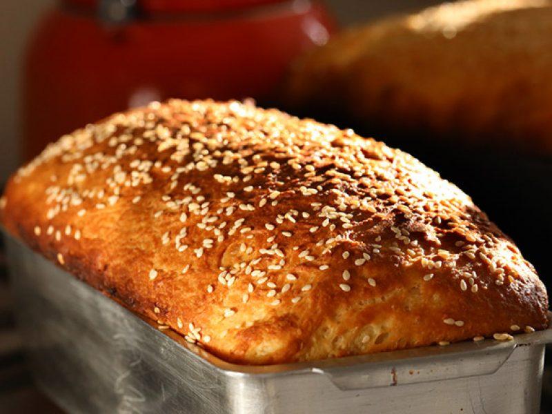 Pão integral de batata doce e cará