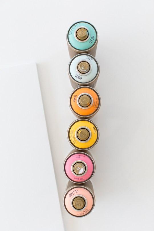 Balcão colorido