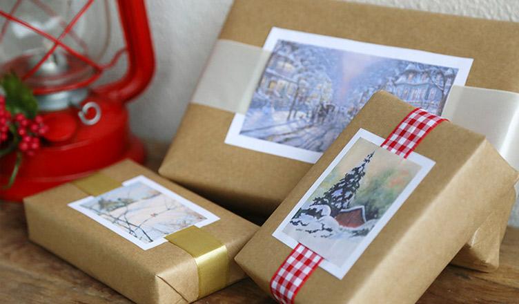 Pacotes para presentes de Natal
