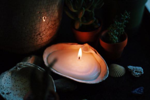 Luminária de concha
