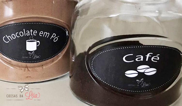 etiquetas para potes de mantimentos