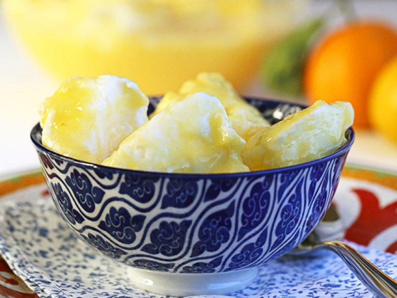 Creme de laranja: uma sobremesa fácil