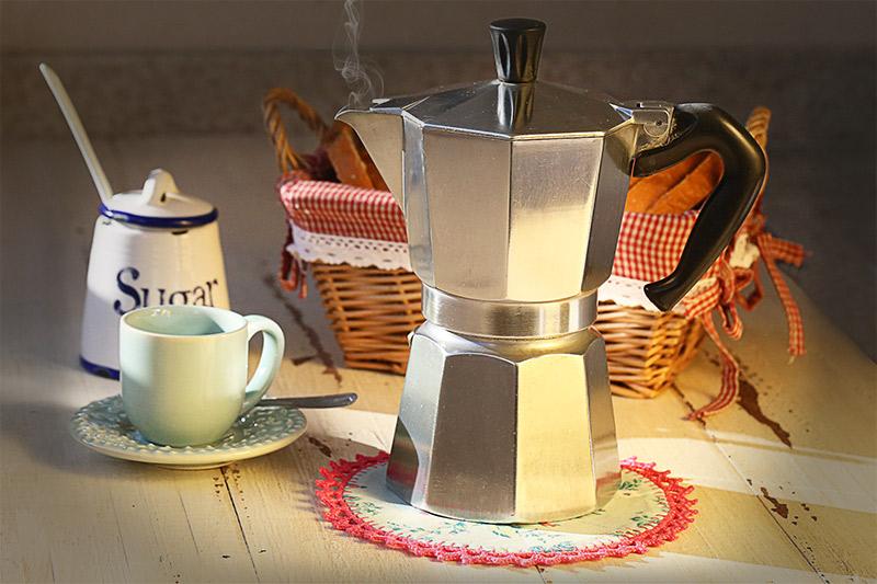 suporte para cafeteira italiana
