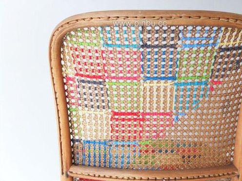 ponto cruz na cadeira