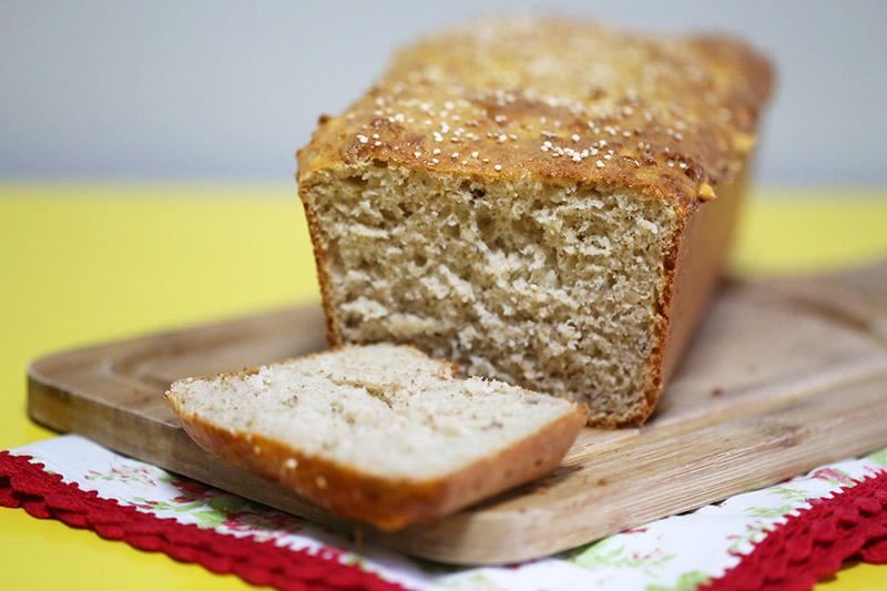 receita de pão de quinoa