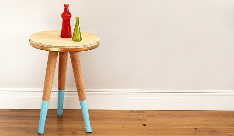 Como fazer a mesa de cabeceira com formas de pizza
