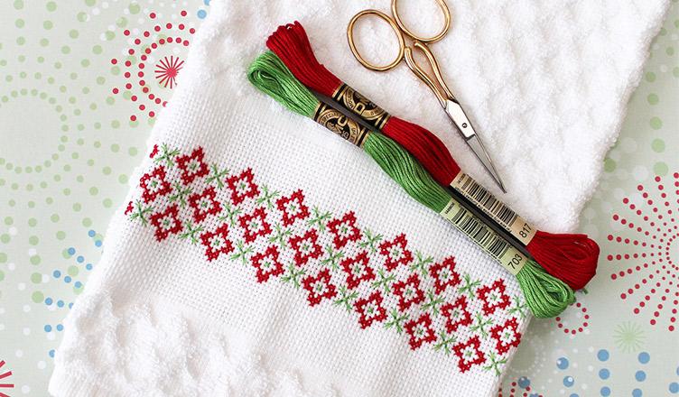 Ponto cruz para o Natal