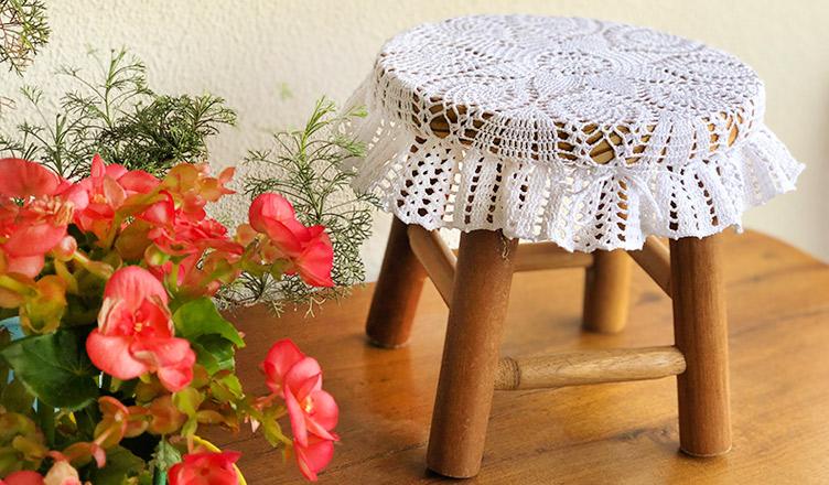 Novo uso para a velha toalha de crochê