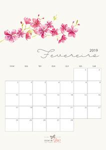 Calendário 2019 fevereiro