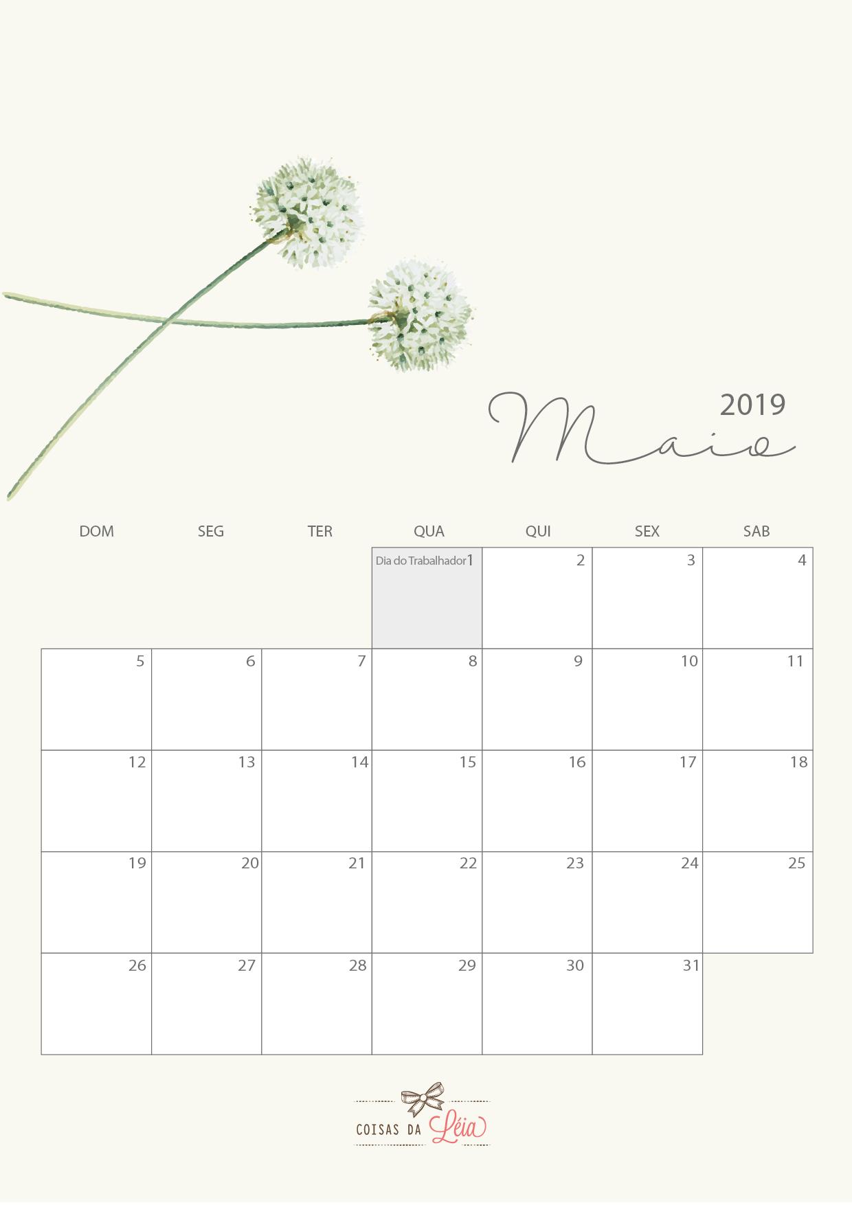 Calendario 2019 Gratuito Para Download Coisas Da Leia