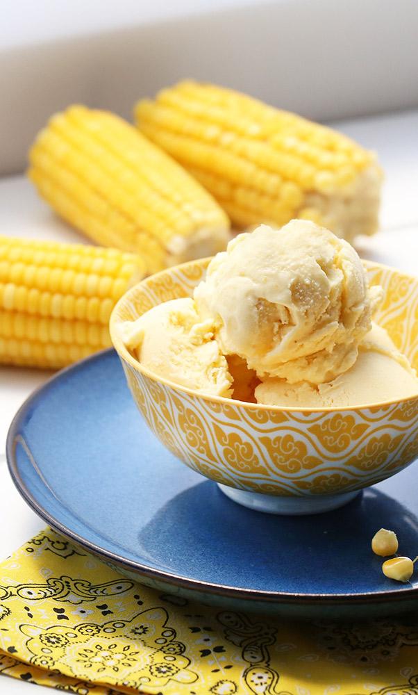 sorvete de milho verde