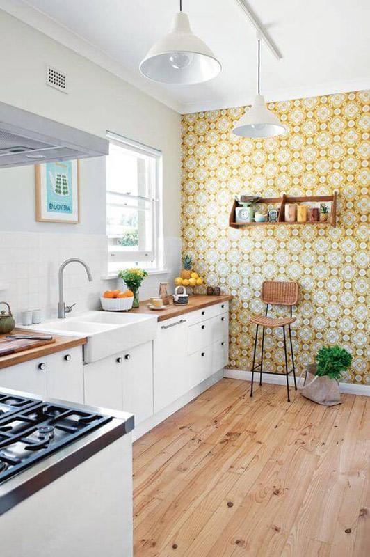 papel de parede para cozinha anos 70