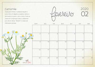 calendário 2020 fevereiro