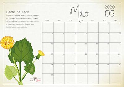 calendário 2020 maio