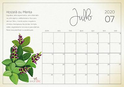 calendário 2020 julho