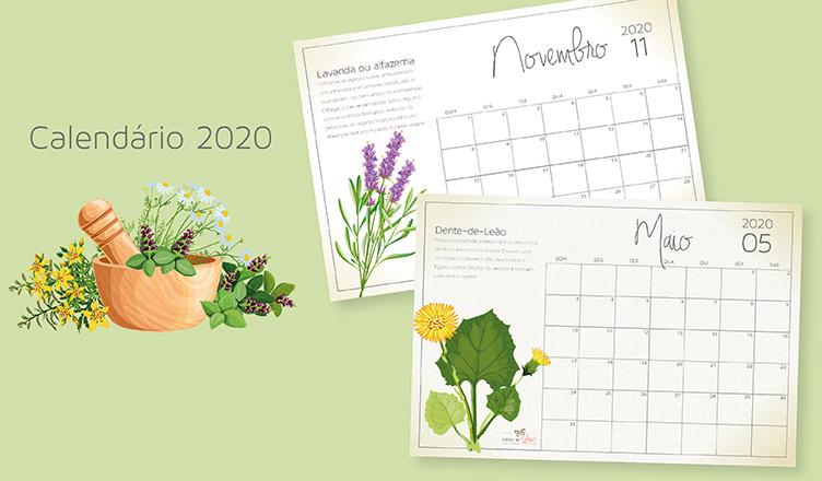 calendário 2020 para imprimir