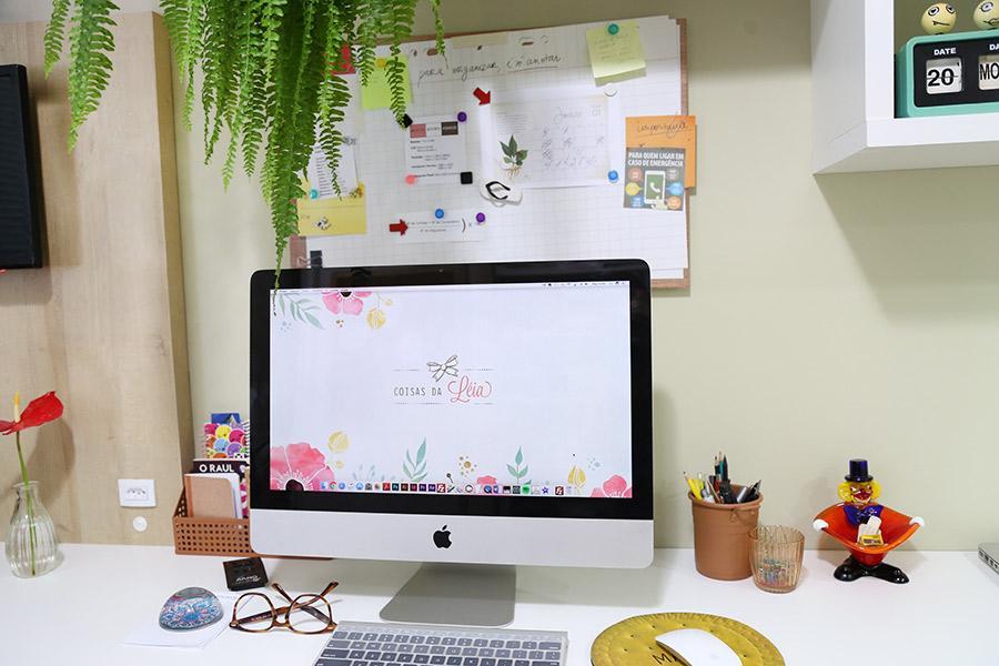 escritório organizados - Home office pequeno planejado