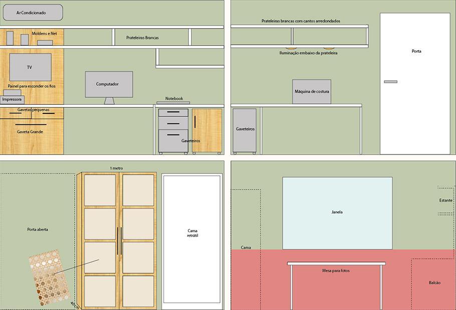 projeto imobiliário do home office