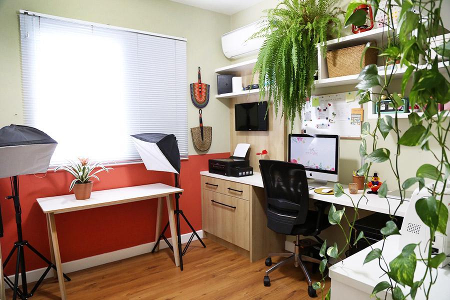 Home office pequeno planejado