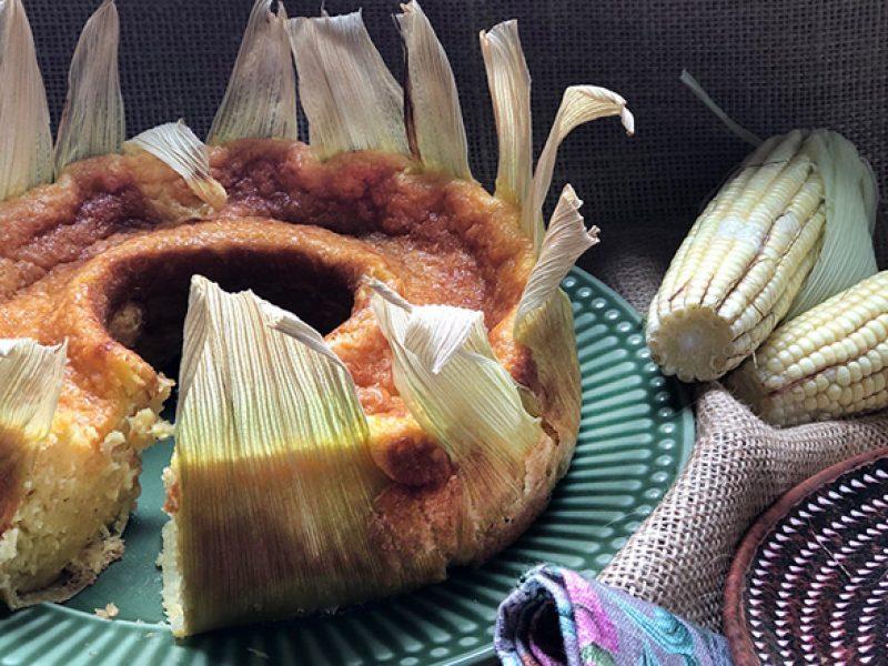 Bolo de pamonha – um bolo caseiro com gostinho de roça