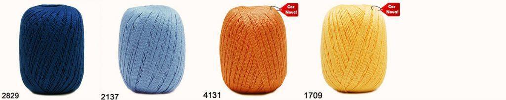 combinações de cores no crochê