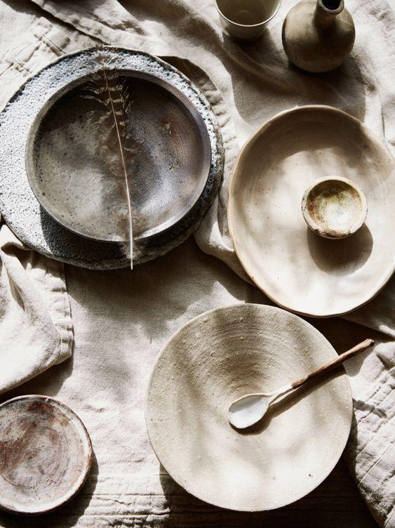 pratos estilo wabi-sabi