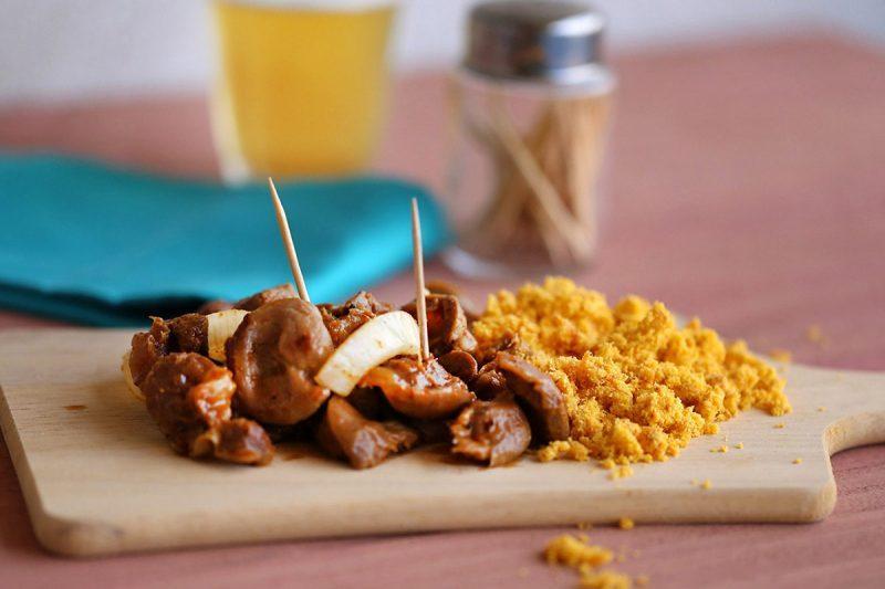 Moela abaixo: comida de boteco tenra e macia
