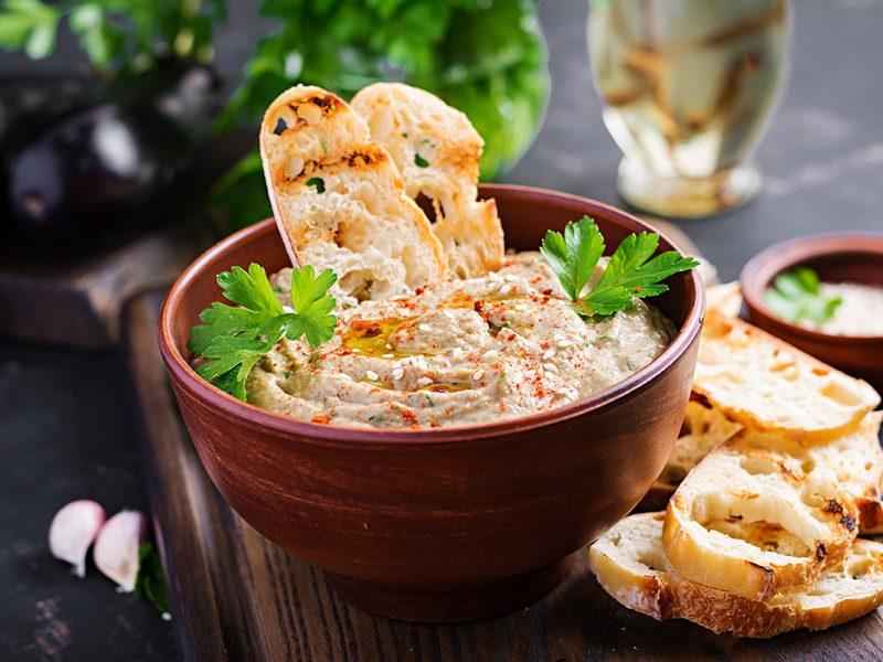 Baba ghanoush ou pasta de berinjela