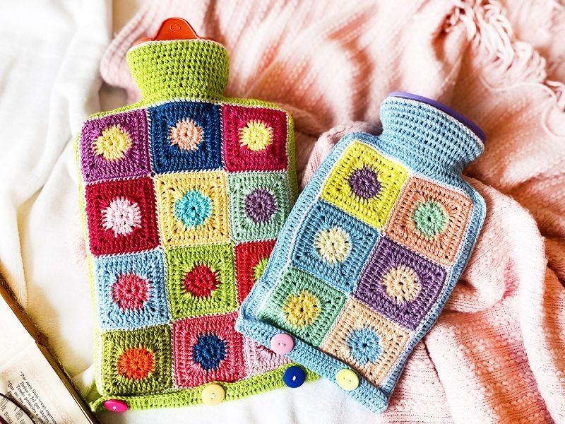 Capa para bolsa de água quente em crochê